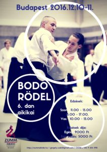 Bodo Rödel aikido edzőtábor 2016