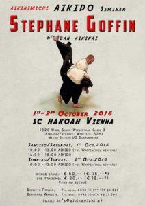 Stéphane Goffin aikido edzőtábor plakát