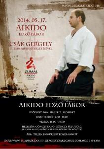 Aikido edzőtábor Csák Gergely (3. dan aikikai) vezetésével